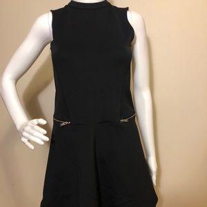 Zara Trafaluc Black Sleeveless Dress Open Back